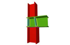 Unión soldada de pilar inferior y pilar superior empotrados a viga pasante (en extremo de pórtico)