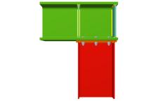 Unión atornillada de pilar inferior empotrado a viga pasante (en extremo de pórtico)
