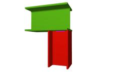 Unión soldada de pilar inferior articulado a viga pasante (en extremo de pórtico)