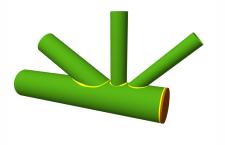 Assemblage en coude KT avec espacement