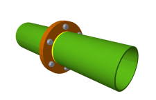 Splice connection, using bolted front plate without stiffeners, of two aligned hollow circular sections with the same external diameter